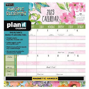 Multiple Blessings Plan-It Wall Calendar (August 2020 - December 2021)