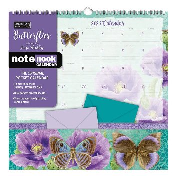 Butterflies 2021 Note Nook Wall Calendar