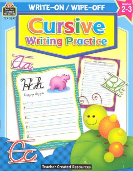 Write-On/Wipe-Off Cursive Writing Practice