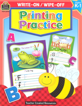Write-On/Wipe-Off Printing Practice