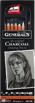 Original Charcoal Drawing Pencils (Assorted Degrees)