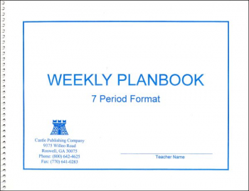 Weekly Lesson Plan Book 7-Period Format