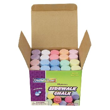 Sidewalk Chalk - Assorted Colors (20 pcs)