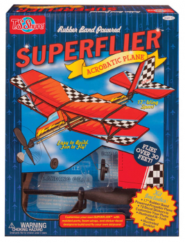 Rubber Band Powered Superflier Deluxe Acrobatic Plane Kit