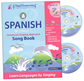 Spanish Beginner 2A Combo (Song Book, CD, DVD)