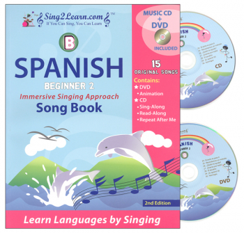 Spanish Beginner 2B Combo (Song Book, CD, DVD)