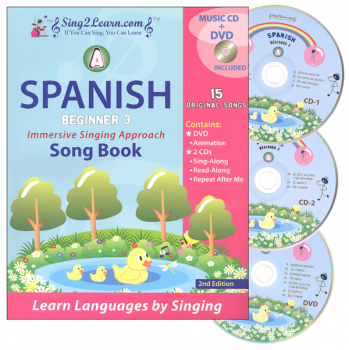 Spanish Beginner 3A Combo (Song Book, CDs, DVD)