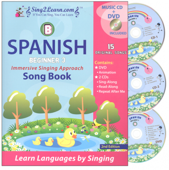 Spanish Beginner 3B Combo (Song Book, CDs, DVD)