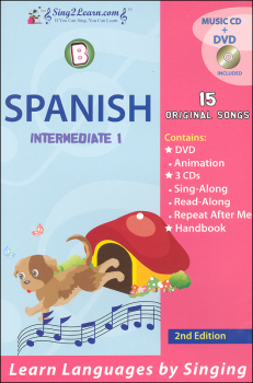 Spanish Intermediate 1B Combo (Song Book, CDs, DVD)