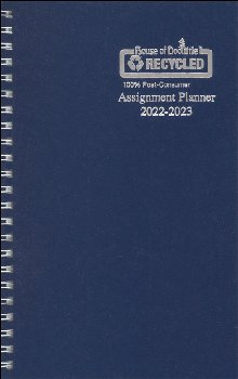 Student Assignment Planner Blue Leatherette August 2020 - August 2021