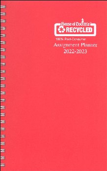 Student Assignment Planner Red Vinyl August 2020 - August 2021