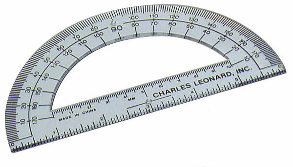 "Protractor 6"" Non-Flexible - Clear Plastic"