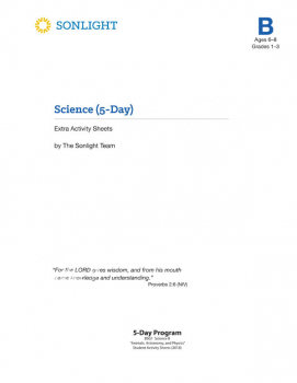 Sonlight Science Level B 5-Day Extra Activity Sheets (2018)