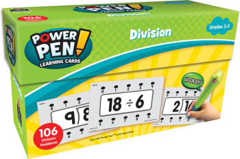 Power Pen Learning Cards: Division