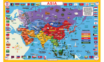 Asia Map Placemat