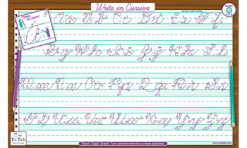 Cursive Writing Placemat