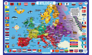 Europe Map Placemat