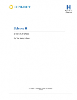 Sonlight Science Level H 4-Day Extra Activity Sheets (2018)