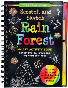 Rain Forest Scratch and Sketch Activity Book