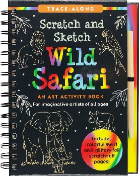 Wild Safari Scratch and Sketch Activity Book