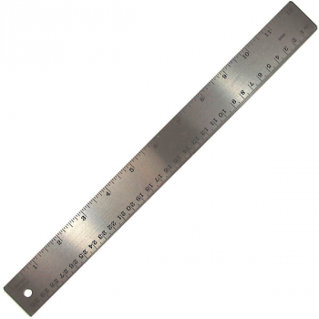"Stainless Steel Ruler with Cork Backing (12"")"