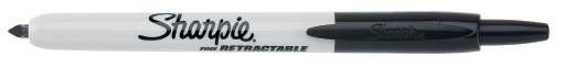 Black Fine Sharpie Retractable