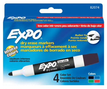 Bullet Point Expo Low Odor Marker box of 4