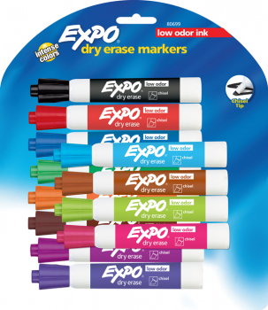 Chisel Point Expo Low Odor Markers card of 12