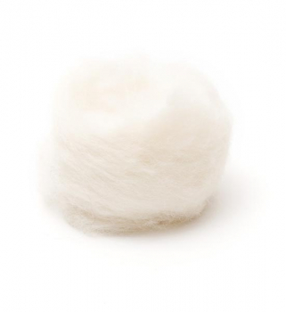 Woolpets Wool Roving (1 oz. bag) - White