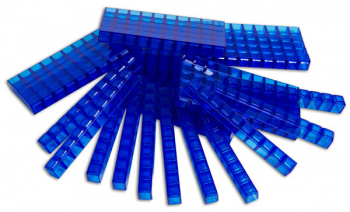 50 Clearview Interlocking Blue Rods