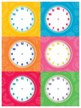 Magnetic Write & Wipe Clock Faces (Pack of 6)