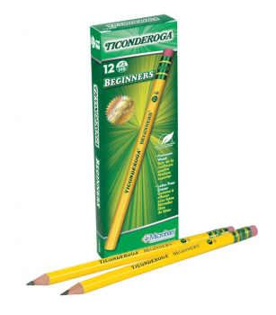 Dixon Ticonderoga Beginner Pencils with Eraser - 12 count