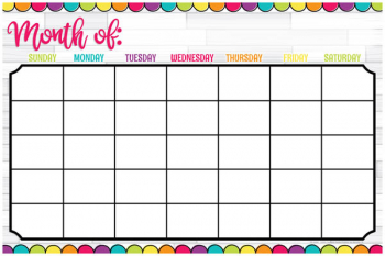 Magnetic Write & Wipe DIY Dots Calendar