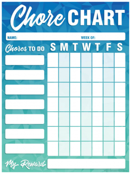 Magnetic Write & Wipe Geo Abstract Mini Chore Chart