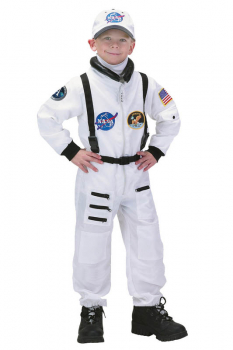 Jr. Astronaut Suit with Embroidered Cap - size 8/10 (White)