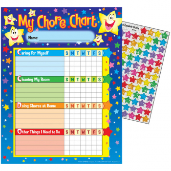 My Chores 25 Chart Pack with 100 Stickers