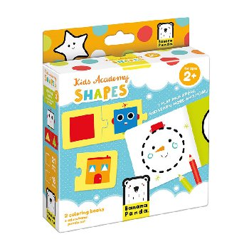 Kids Academy: Shapes (coloring books and puzzles)