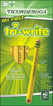 Laddie Tri-Write Beginner with Eraser - 36 count