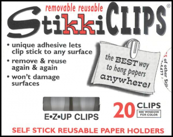 StikkiClips - Set of 20 White