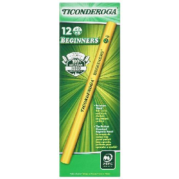 Ticonderoga Beginner Pencil without Eraser - Box of 12