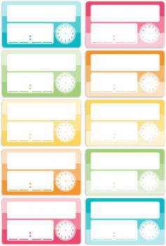 Magnetic Write & Wipe Schedule Cards (Pack of 10)
