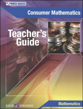 Consumer Math Stdt Txt Tchr Gd (Power Basics)