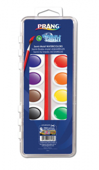 Prang Washable Watercolors: 16 Color Set with Brush
