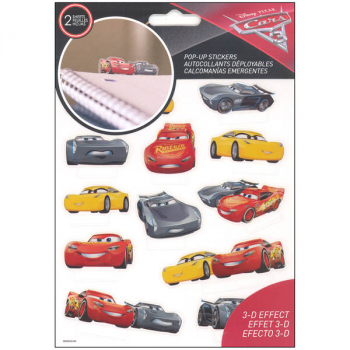 Cars 3 Pop Up Stickers (2 Sheet)