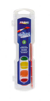 Prang Washable Watercolors: 8 Color Set with Brush