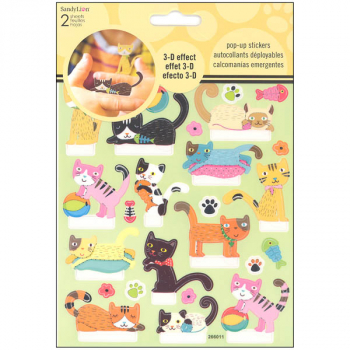 Cat Pop Up Stickers (2 Sheet)