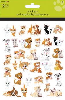 Cats & Dogs Foldover Stickers