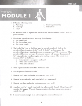 Advanced Biology: Human Body Test Packet 2nd Edition