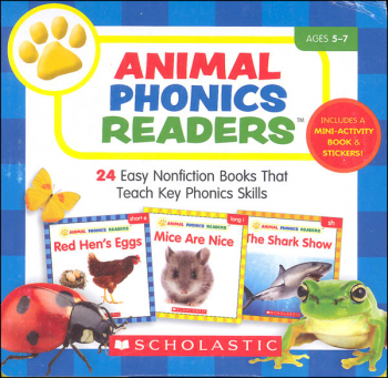 Animal Phonics Readers: 24 Easy Nonfiction Books That Teach Key Phonics Skills