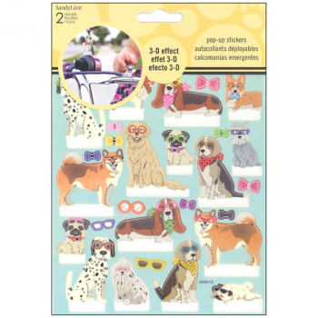 Dog Pop Up Stickers (2 Sheet)